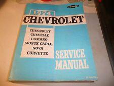 CHEVROLET SHOP SERVICE REPAIR MANUAL BOOK FACTORY WORKSHOP RESTORATION GUIDE SS