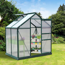 Outsunny 6'x4'x7' Aluminum Frame Walk In Greenhouse Garden Hobby Green House New