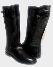 ECCO Touch 15 B Wome's leather boots Sz.EU 40 US 9-9.5 Black New FREE SHIPPING