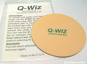 Q-Wiz Shaft Conditioner/Polisher - Pool Cue Care Smoothing Accessory Ships Fast!