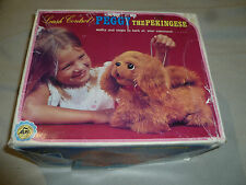 Vintage Boxed Leash Control Peggy The Pekingese Battery Operated Dog Toy Alps