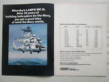 3/1977 PUB SIKORSKY LAMPS MK III HELICOPTER US NAVY CH-53E SH-3A ORIGINAL AD