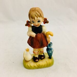 Vintage Arnart 5th Ave Girl with Duck and Umbrella Figure 11/345 Japan