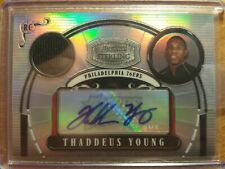 THADDEUS YOUNG 2008 STERLING REFRACTOR JERSEY AUTO RC #12/19! 76ERS BULLS PACERS