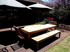 Teak, Outdoor, Setting, Table, Benches, Chairs, A Grade