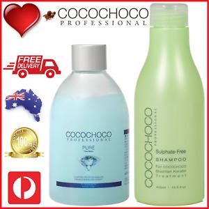 ❤❤ COCOCHOCO Pro PURE Keratin Hair Treatment 250ml + SULPHATE FREE SHAMPOO 400ml