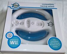 Racing Wheel GameOn Fully Compatible Nintendo Wii MotionPlus Remote White 32018