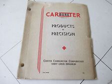 1954 Carter Carbureter Catalog Chevrolet Corvette, Cars & Truck Apps Many Pages