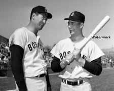 Boston Red Sox Hitting Instructor Ted Williams & Carl Yastrzemski 8 X 10 Photo