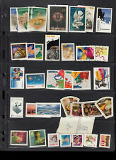 Mostly diff Mnh Canada die-cut stamps/booklets from annual year/quart Face $132