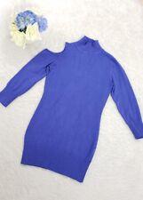 2B Bebe cutout shoulder sweater blouse 3/4 sleeve mock neck purple S