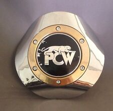 Prestige PCW Wheel Center Cap CHROME w/ Black and Gold