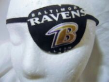 unisex handmade eye patch/ Baltimore Raven theme/  2 Styles/vision aid