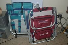 Set of 2 Tommy Bahama Beach Lawn/Beach Relax Folding Cooler Chairs