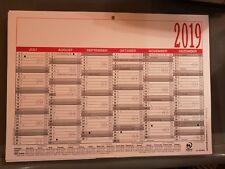 2019 Zettler Jahresübersicht 2x Tafelkalender Arbeitstagekalender A4 907-0000
