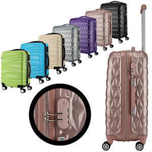 Light Weight PC ABS Travel Luggage Suitcase Travel Case Trolley 4 wheels Lock