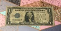 1928 $1.00 Silver Certificate Note  ( 1 ) Average Circulated Bill .