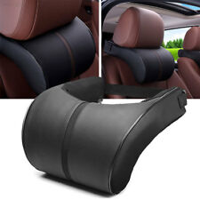 Black Leather Car Auto Memory Foam Pillow Seat Head Neck Headrest Rest Cushion!