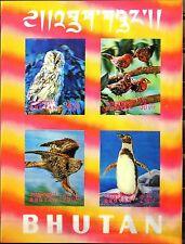 BHUTAN 1969 Block 29 S/S 104h Vögel Birds Fauna Owl Hawk Penguin Eule Adler MNH