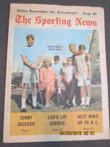 4/6 1968 Mickey Mantle Yankees The Sporting News complete
