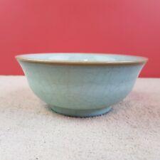 Alte chinesische Porzellan Schüssel Schale Craquelure Porzellan glasiert