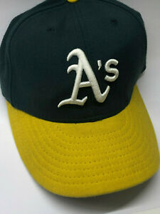 New Era Oakland A's Cap • Fitted • Made in USA •Size 7 (55.8)