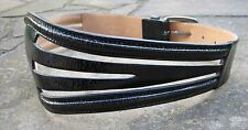 S/M - Witchery Wide Black Patent Leather Belt womens with shiny metal buckle