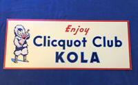 Clicquot Club Kola Cardboard Sign Original Store Display