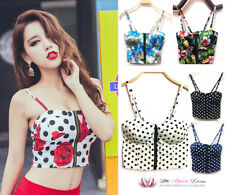 VALENTINES Womens Sexy Bustier Spotty Floral Crop Top Bralet Corset Plus Size