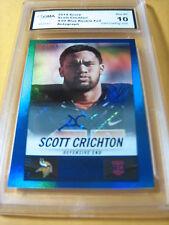 SCOTT CRICHTON VIKINGS 2014 HOT ROOKIES BLUE FOIL AUTO ROOKIE RC #/99 GRADED 10