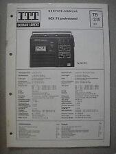 ITT/schaub Lorenz RCX 75 Professional Service Manual, tb035