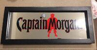Beer Sign Captain Morgan Mirrored Sign Captain Morgan Rum Ultimate Man Cave Bar