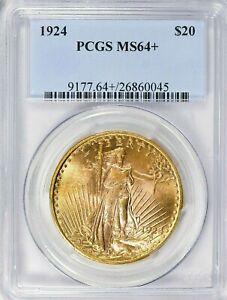 RARE- 1924 - SAINT-GAUDENS - GOLD DOUBLE EAGLE - PCGS  MS 64 + GEMMM - $2,988.88