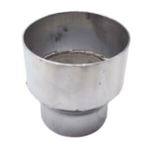 """polished 3"""" OD to 4"""" OD Aluminum Universal Reducer PIPE exhaust tip Adapter"""