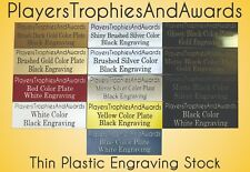Nameplate .5 x 1 THIN PLASTIC name plate CUSTOM laser engraved tag FREE Proof