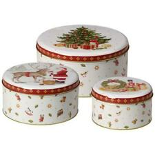 Villeroy & Boch TOY'S DELIGHT /WINTER BAKERY DELIGHT Cookie Box Tin  Set of 3