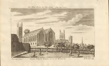 1721 ANTIQUE PRINT - THE WHITE FRYARS IN GLOUCESTER, CARMELITE MONASTERY