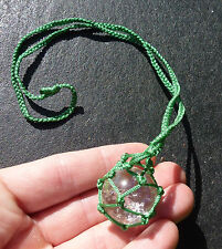 CRYSTAL WEB HOLDER © ~ GREEN ~HAND MADE CAMBODIA ~ HOLD ALL YOUR TUMBLE STONES