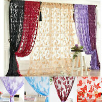 Modern Butterfly Style Tassel String Door Curtain Window Room Divider Curtain