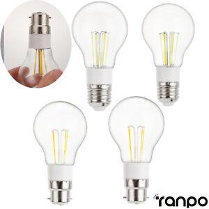 Vintage LED Edison Bulb E27 B22 3W 4W 6W Retro Home Deco Light Lamp 12V 240V RH