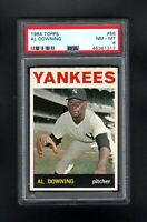1964 TOPPS #86 AL DOWNING NEW YORK YANKEES PSA 8 NM/MT++CENTERED!