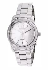 i27)Invicta Angel 38mm Silver Dial Silver Tone Steel Bracelet Women Watch 17419