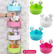Suction Corner Rack Shelf Organizer Cup Bath Storage Bathroom Shower Wall Basket