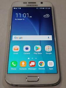 Samsung Galaxy S6 SM-G920V, 128GB, White Pearl, Unlocked, Good Condition :BB147