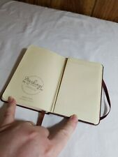 C.R. Gibson Genuine Bonded Leather Journal By Markings Sewn Binding Pocket Lined