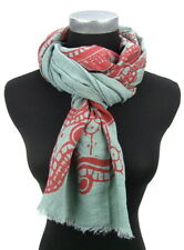 Écharpes et châles foulard à motif Floral pour femme, en 100% coton