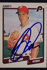 Phillies Don Carman Signed 1990 Fleer Autograph Card #552 TOUGH 106