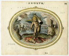 Antique Print-LOVE-TOIL-COW HIDE-COLUMN-RESULT LIGHTENS LABOR-Veen-1608