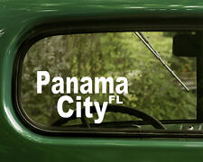 2 PANAMA CITY DECALs Florida Sticker for Car Truck 4x4 Bumper Rv Window Laptop