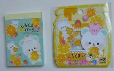 Crux Kawaii Honey Bear Oranges Japan Mini Memo Pad Sticker sack flakes lot